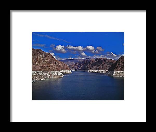 Water Framed Print featuring the photograph Lake Mead by David Campbell