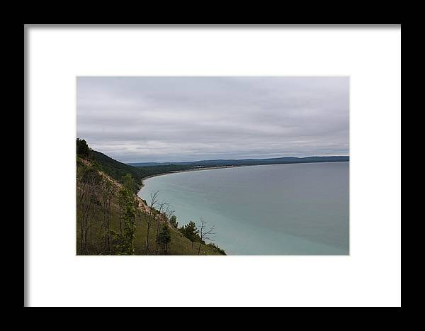 Landscape Framed Print featuring the photograph Lake Michigan by Elle Dyer