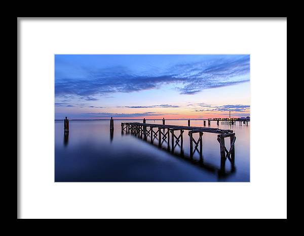 Lake Monroe Framed Print featuring the photograph Lake Monroe At Twilight by Stefan Mazzola