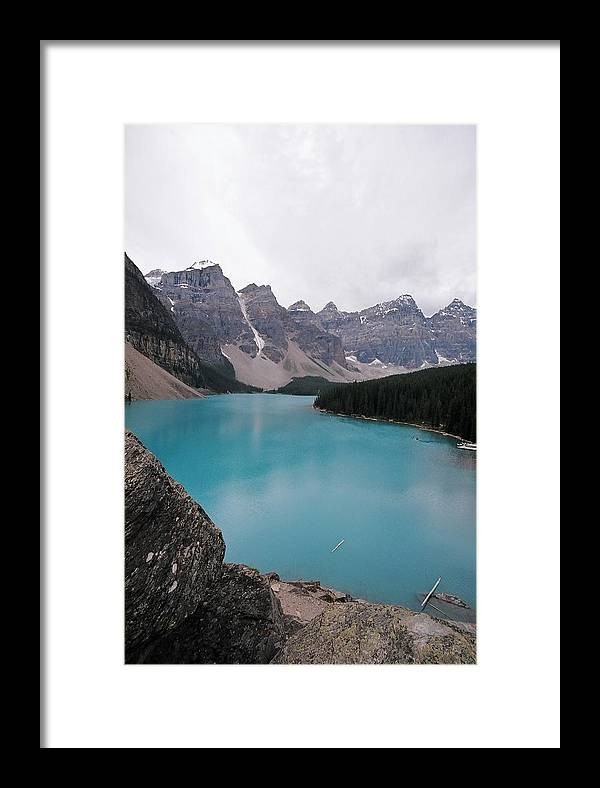 Landscape Framed Print featuring the photograph Lake Moraine by Caroline Clark