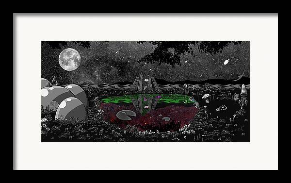 Landscpe Framed Print featuring the digital art Lake Of Dreams by Rox Flame