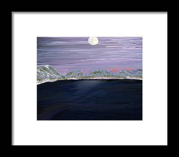 Lake Framed Print featuring the digital art Lake Of The Coheeries by Carole Boyd