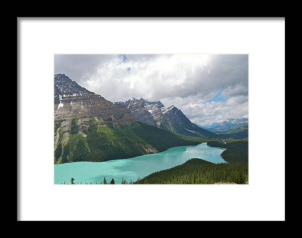 Moraine Lake Framed Print featuring the photograph Lake Peyto - Banff National Park by Andre Distel