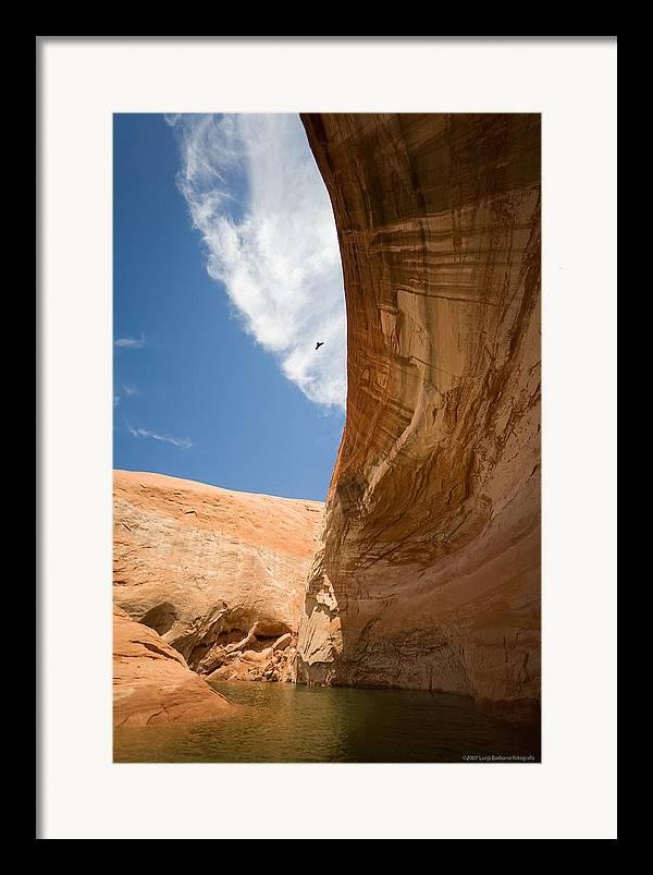 U.s.a. Framed Print featuring the photograph Lake Powell 1 by Luigi Barbano BARBANO LLC