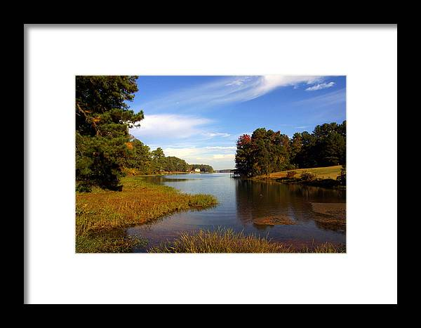 Lake Framed Print featuring the photograph Lake Sinclair by Ralph Perdomo