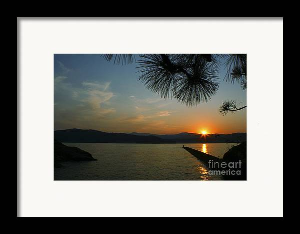 Sunset Framed Print featuring the photograph Lake Sunset by Idaho Scenic Images Linda Lantzy