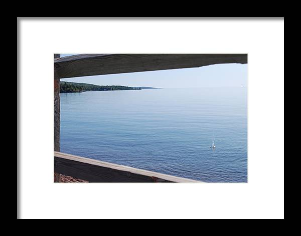 Lake Framed Print featuring the photograph Lake Superior by Beth Sullivan