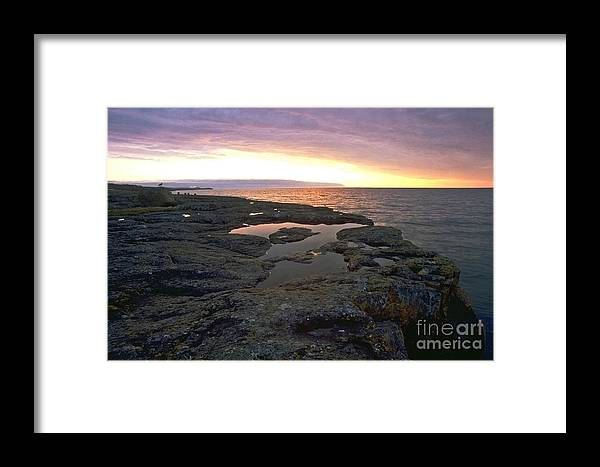 Lake Superior Framed Print featuring the photograph Lake Superior Sunrise by Sven Brogren