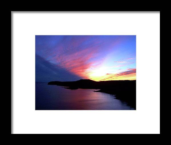 Lake Superior Framed Print featuring the photograph Lake Superior Sunset by Laurie Prentice