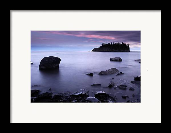 Minnesota Framed Print featuring the photograph Lake Superior Twilight by Eric Foltz