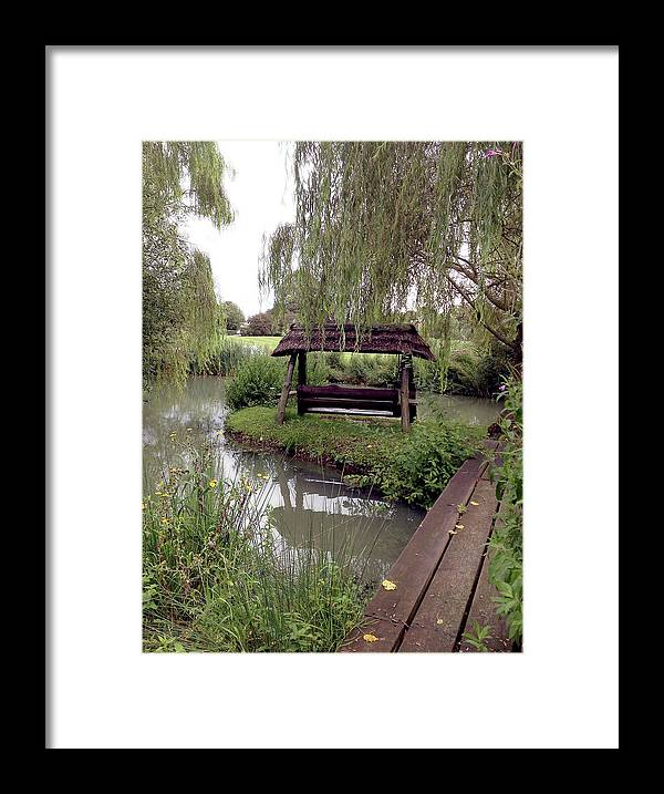 Photograph Framed Print featuring the photograph Lake Swing And Bridge by Nicole Parks