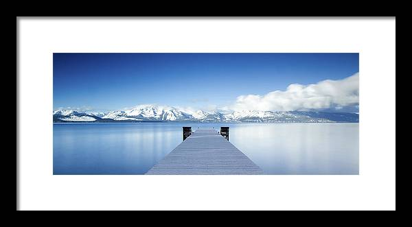 Lake Framed Print featuring the photograph Lake Tahoe Panorama by Matthew Train