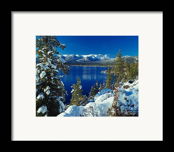 Lake Tahoe Framed Print featuring the photograph Lake Tahoe Winter by Vance Fox
