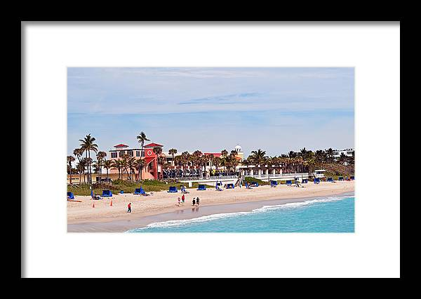Lake Worth Beach Framed Print featuring the photograph Lake Worth Beach by Maria Keady