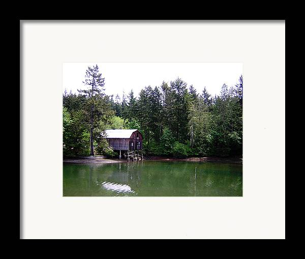 Water Framed Print featuring the photograph Lakebay Green Water by Valerie Josi