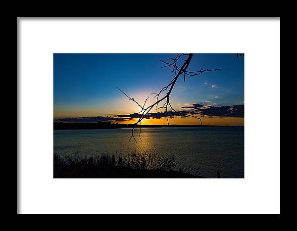 Lakes Framed Print featuring the photograph Lakeshore Sunset by Paul Gibson
