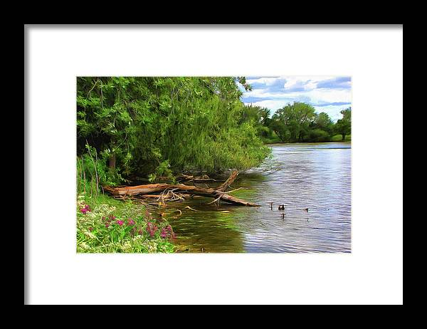 Cedric Hampton Framed Print featuring the photograph Lakeside Blossoms by Cedric Hampton