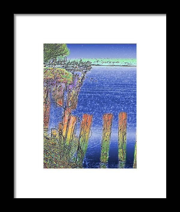 Seattle Framed Print featuring the photograph Lakeside Pilings by Tim Allen