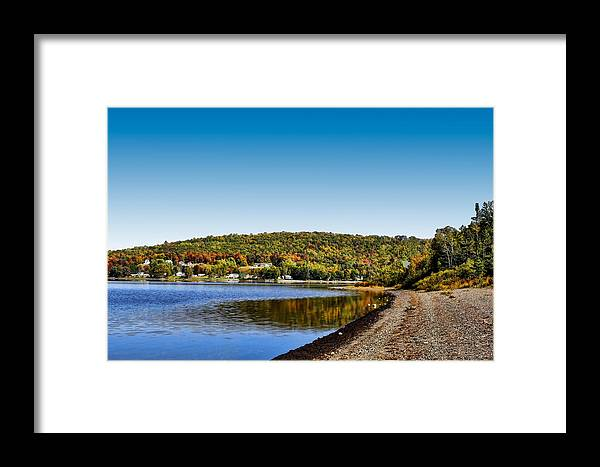 Lake Framed Print featuring the photograph Lakeside Portage by Gary Smith