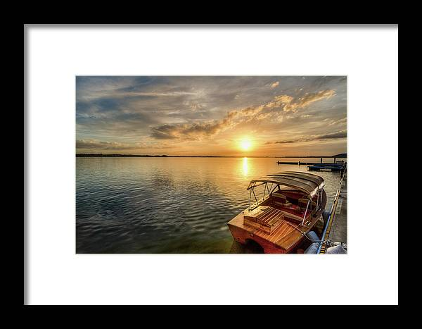 Lake Framed Print featuring the photograph Lakeside by Ronald Kotinsky