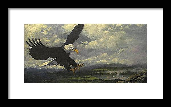 Eagle Framed Print featuring the painting Lakeview Eagle by Tom Forgione