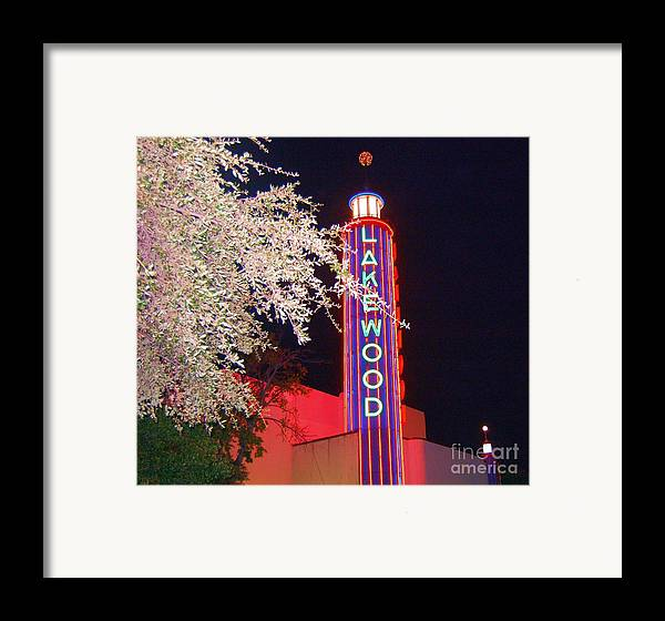Theater Framed Print featuring the photograph Lakewood Theater by Debbi Granruth