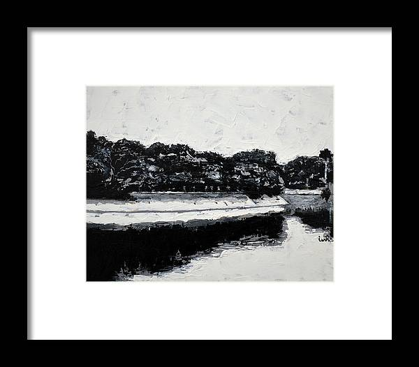 Lal Bagh Lake Framed Print featuring the painting Lal Bagh Lake 4 by Usha Shantharam