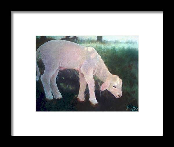 Lamb Framed Print featuring the painting Lamb Of God by Rebecca Poole