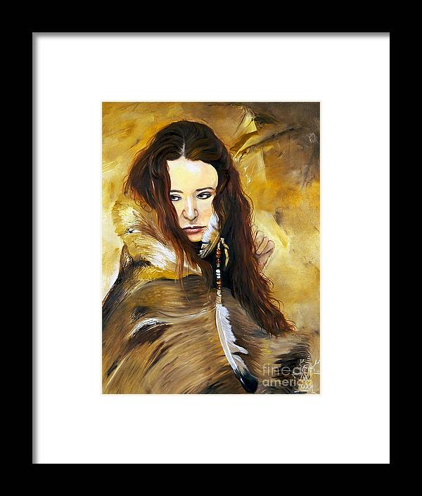 Southwest Art Framed Print featuring the painting Lament by J W Baker