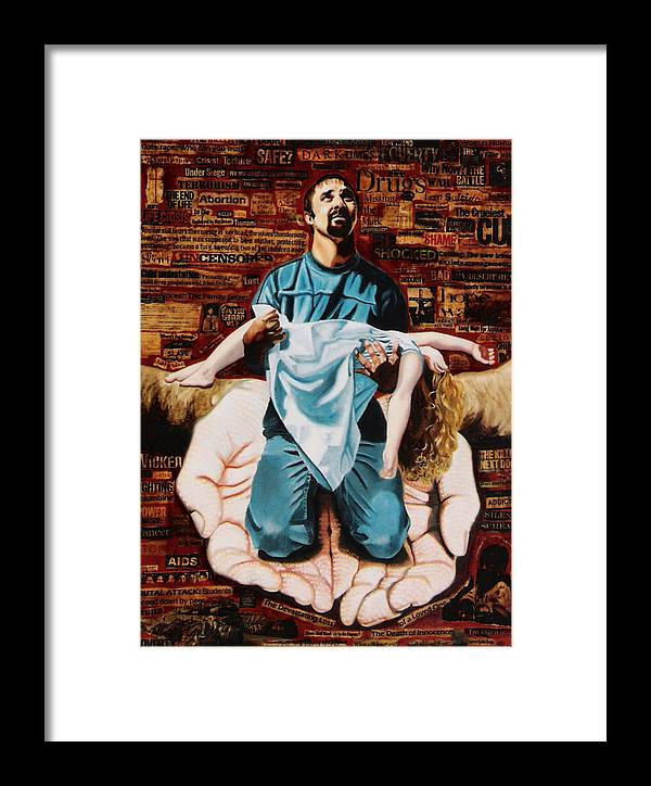 Lamentations Framed Print featuring the painting Lamentations by Teresa Carter