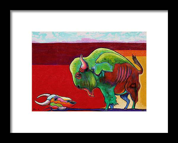 Wildlife Framed Print featuring the painting Lamenting the Leader by Joe Triano
