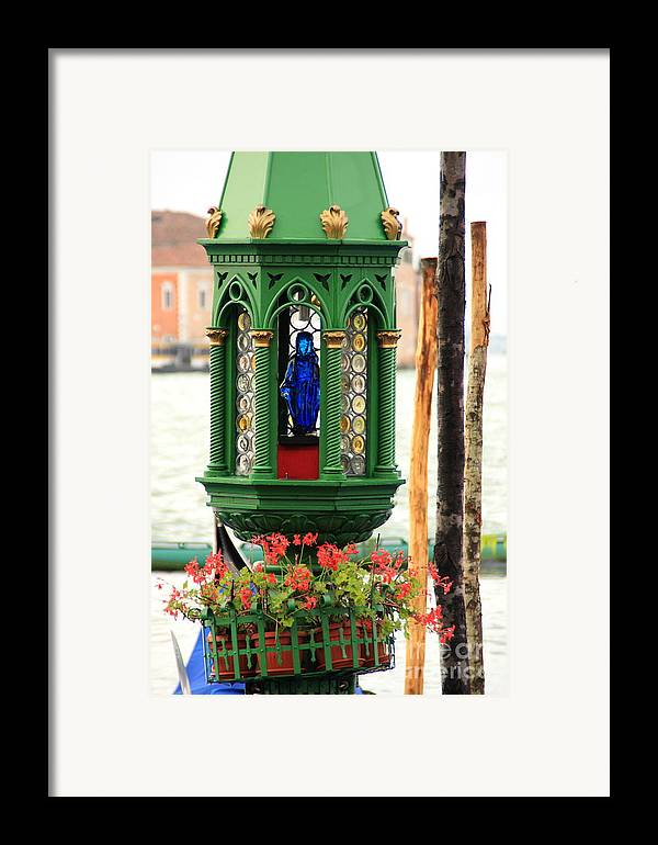 Venice Framed Print featuring the photograph Lamp At Gondola Station In Venice by Michael Henderson