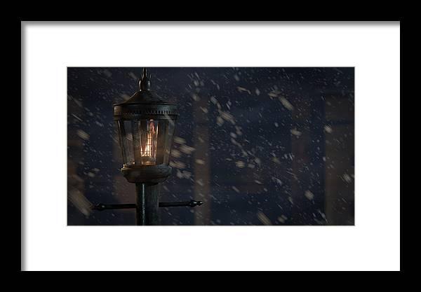 Lamp Framed Print featuring the digital art Lamppost by Jason Clarke