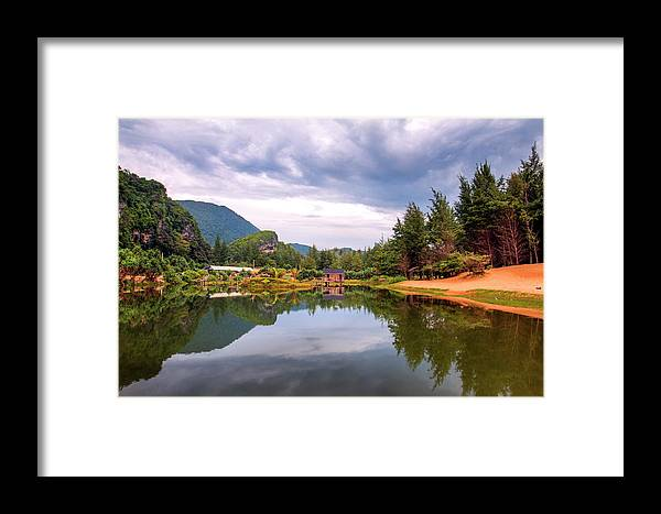 Lake Framed Print featuring the photograph Lampuuk Lake by Budi Nur Mukmin