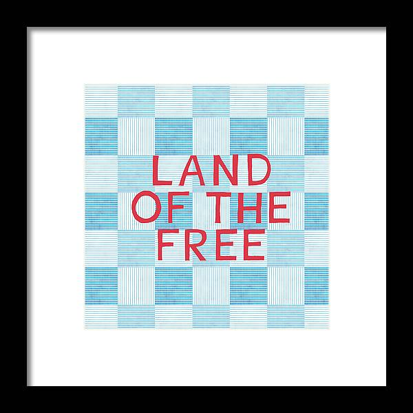 Land Of The Free Framed Print featuring the painting Land Of The Free by Linda Woods