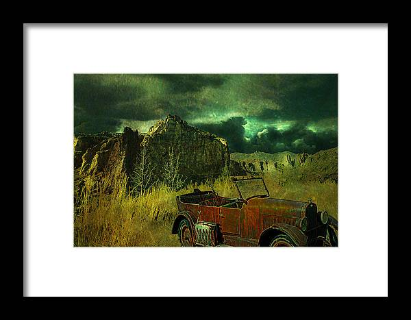 Landscape Framed Print featuring the digital art Land Rover by Jeff Burgess