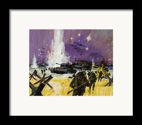 Sea Framed Print featuring the painting Landing by Graham Cotton