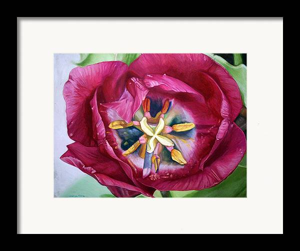 Botanical Framed Print featuring the painting Landing Zone by Melissa Tobia