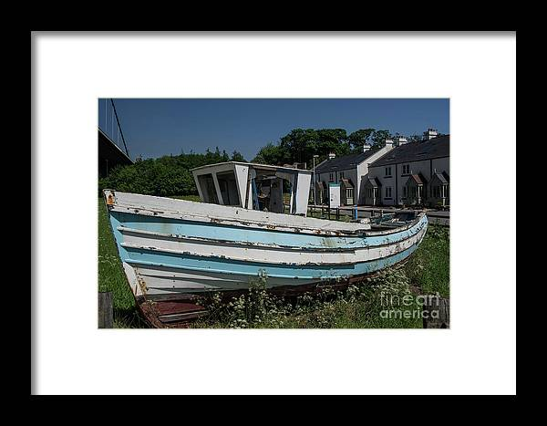 Boat - Cottages - England - Uk - Derelict Framed Print featuring the photograph Landlocked by Chris Horsnell