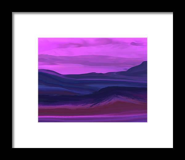 Fine Art Framed Print featuring the digital art Landscape 022011 by David Lane