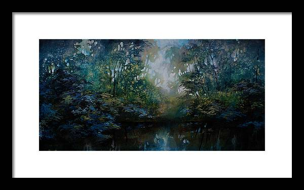 Original Landscape Painting Framed Print featuring the painting Landscape 2 by Michael Lang