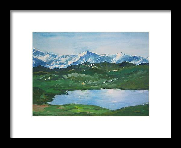 Landscape Framed Print featuring the painting Landscape 36 by Min Wang