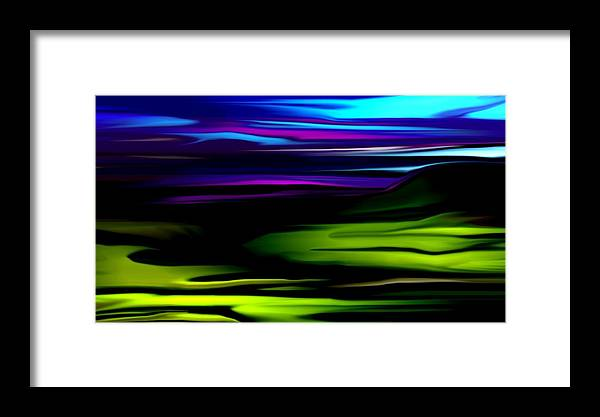 Abstract Expressionism Framed Print featuring the digital art Landscape 8-05-09 by David Lane