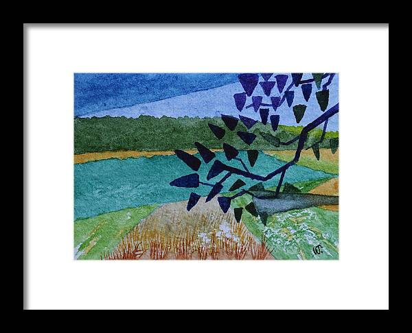 Landscape Angles Framed Print featuring the painting Landscape Angles by Warren Thompson
