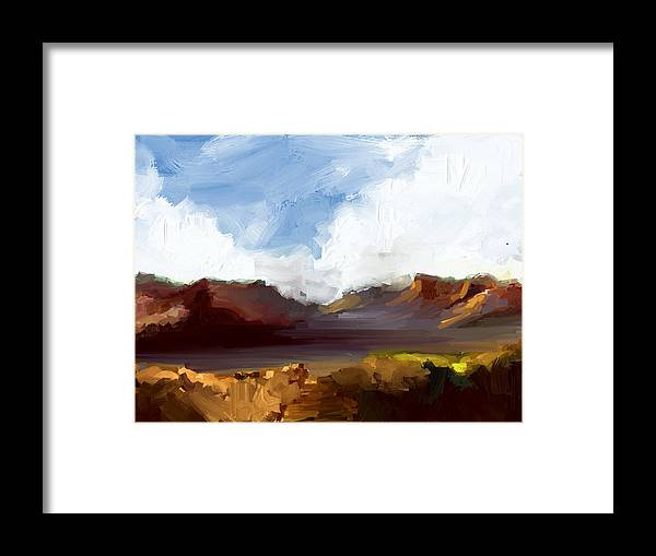 Landscape Framed Print featuring the painting Landscape by Bruce Young