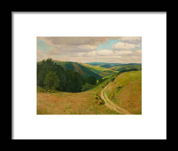 Fritz Von Wille Framed Print featuring the painting Landscape Near Schleiden In The Eifel by Wille