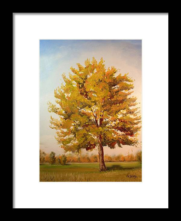 Tree Framed Print featuring the painting Landscape Oil Painting by Karla Beatty