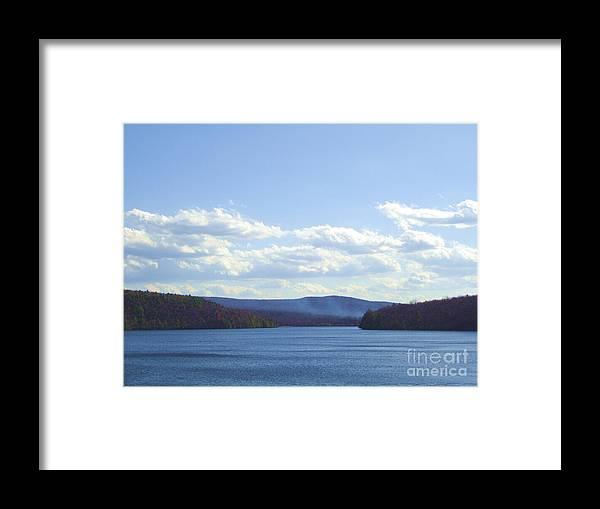 Landscape Portrait Of A View Lake Scranton Pa Framed Print featuring the photograph Landscape Portrait Of A View by Daniel Henning