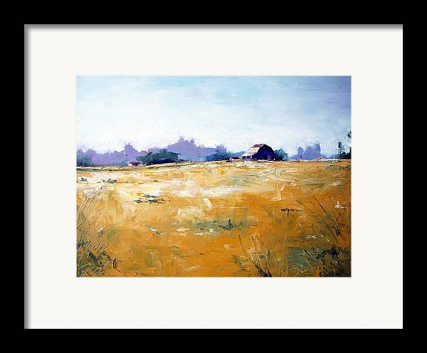 Art Framed Print featuring the painting Landscape With Barn by RB McGrath