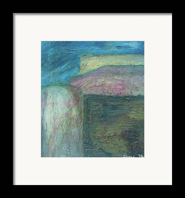 Framed Print featuring the painting Landscape With Houses by Biagio Civale